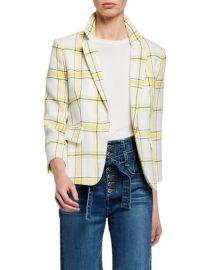 Veronica Beard Schoolboy Shrunken Plaid Jacket at Neiman Marcus