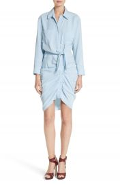 Veronica Beard Sierra Ruched Shirtdress at Nordstrom