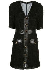 Veronica Beard Simona Metallic Tweed Dress - Farfetch at Farfetch