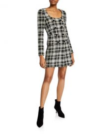 Veronica Beard Sondra Double-Breasted Plaid Dress at Neiman Marcus