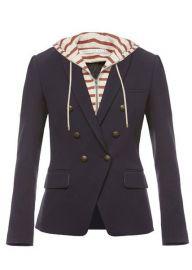 Veronica Beard Striped Captain Jacket at Elizabeth Charles