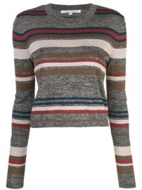 Veronica Beard Striped Knitted Top - Farfetch at Farfetch