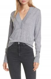 Veronica Beard Tatiana Layered Merino Wool Blend Sweater   Nordstrom at Nordstrom
