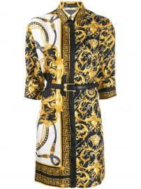 Versace Barocco fitted shirt dress Barocco fitted shirt dress at Farfetch