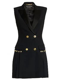 Versace - Envers Pleated Blazer Dress at Saks Fifth Avenue