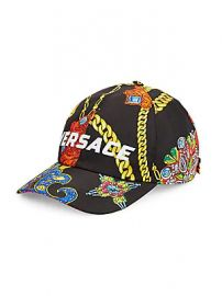 Versace - Jewelry Barocco Print Logo Embroidered Baseball Cap at Saks Fifth Avenue