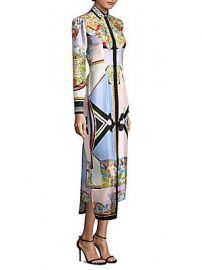 Versace - Printed Silk Shirtdress at Saks Fifth Avenue