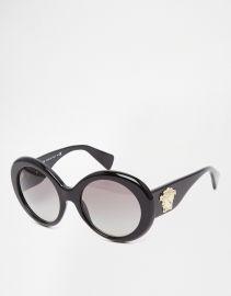Versace  Versace Round Sunglasses at Asos