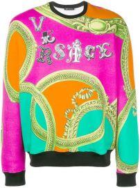 Versace Baroque Print Logo Sweatshirt - Farfetch at Farfetch