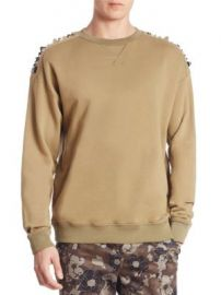 Versace Collection - Studded Cotton Sweater at Saks Fifth Avenue