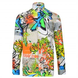 Versace Collection Graffiti Shirt at Cruise
