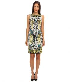 Versace Collection Graphic Print Sheath Dress GialloStampa at 6pm