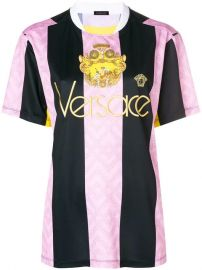 Versace Embroidered Logo Football T-shirt - Farfetch at Farfetch