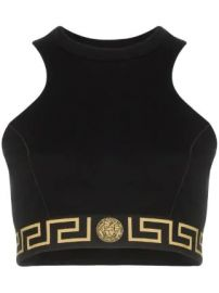 Versace Greek Key band sports bra at Farfetch