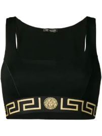 Versace Greek Key sports bra at Farfetch