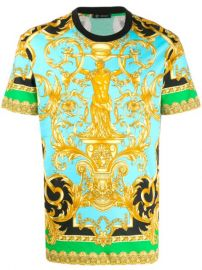 Versace Jeans Couture baroque-print T-shirt - Farfetch at Farfetch