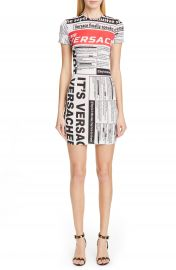 Versace News Print Dress   Nordstrom at Nordstrom