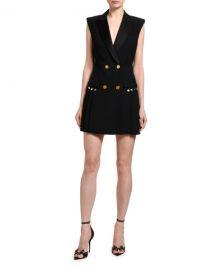 Versace Sleeveless Blazer Dress at Neiman Marcus