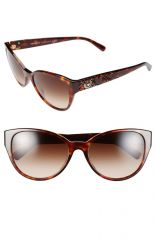 Versace and39Rock Icons - Vanitasand39 58mm Cat Eye Sunglasses in Brown at Nordstrom