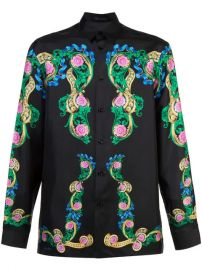 Versace floral-print Shirt - Farfetch at Farfetch