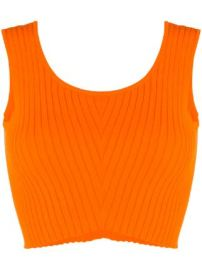 Versace knitted sleeveless crop top knitted sleeveless crop top at Farfetch