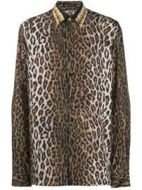 Versace leopard print shirt leopard print shirt at Farfetch