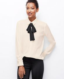 Versatile tie blouse at Ann Taylor