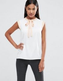 Vesper Sleeveless Blouse With Tie Neck at asos com at Asos