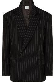 Vetements - Oversized pinstriped wool-blend blazer at Net A Porter