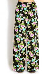 Vibrant Floral Wide Leg Pants at Forever 21