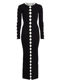 Victor Glemaud - Diamond Pattern Knit Maxi Dress at Saks Fifth Avenue