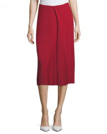 Victoria Beckham Asymmetric Godet Midi Skirt  Red at Neiman Marcus