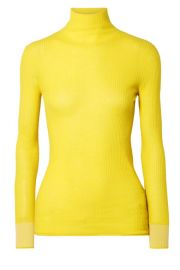 Victoria  Victoria Beckham - Ribbed wool turtleneck sweater at Net A Porter