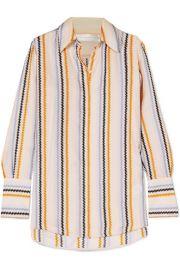 Victoria  Victoria Beckham   Striped silk-satin shirt at Net A Porter