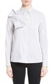 Victoria  Victoria Beckham Knot Stripe Shirt at Nordstrom