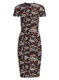Victoria Beckham - Camo Print Cap Sleeve Sheath Dress at Saks Fifth Avenue