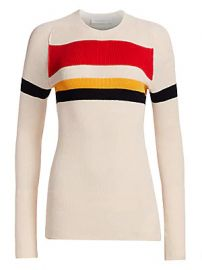 Victoria Beckham - Cotton-Blend Striped Sweater at Saks Fifth Avenue
