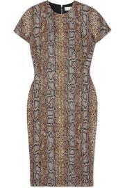 Victoria Beckham - Cotton-blend snake-jacquard dress at Net A Porter
