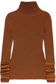 Victoria Beckham - Cotton-blend turtleneck sweater at Net A Porter