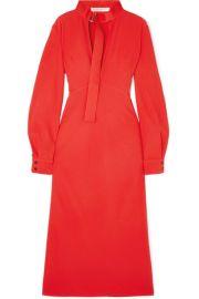 Victoria Beckham - Cutout cady midi dress at Net A Porter