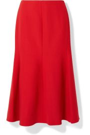 Victoria Beckham - Fluted crepe midi skirt at Net A Porter