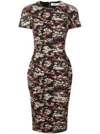 Victoria Beckham Camouflage Jacquard Midi Dress - Farfetch at Farfetch