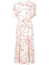 Victoria Beckham Chain Print Dress - Farfetch at Farfetch