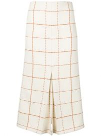 Victoria Beckham Check Pleated Skirt  - Farfetch at Farfetch
