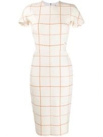Victoria Beckham Checked Midi Dress - Farfetch at Farfetch