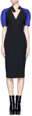 Victoria Beckham Contrast Sleeve Dress at Lane Crawford