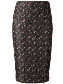 Victoria Beckham Fine Print Pencil Skirt - The Webster at Farfetch