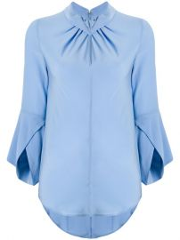 Victoria Beckham Flare-sleeve Knot Blouse at Farfetch