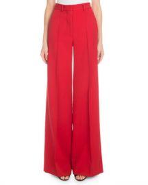 Victoria Beckham High-Waist Wide-Leg Wool Trousers at Neiman Marcus