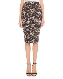 Victoria Beckham Printed Knee-Length Pencil Skirt at Neiman Marcus